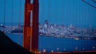 San Francisco and the Golden Gate Bridge at Night. 4K. video