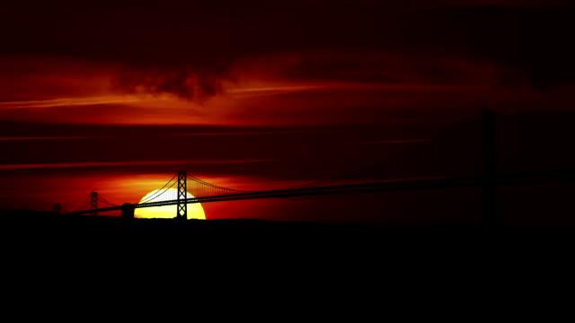 San Francisco bridge sunrise video