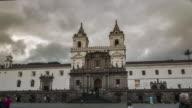 san francisco church in quito ecuador hyperlapse video