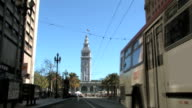 San Francisco Ferry Building Clock Tower TL Stop Motion Blur video