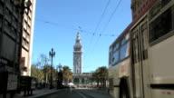 San Francisco Ferry Building Clock Tower TL Stop Motion Blur video