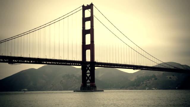 San Francisco Golden Gate Bridge panning video
