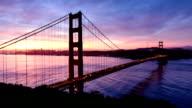San Francisco Golden Gate sunrise - Timelapse video