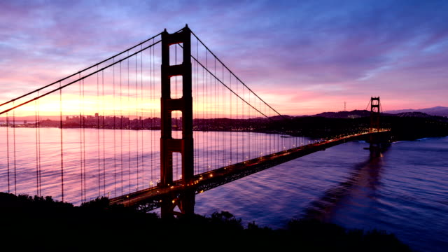 San Francisco Golden Gate sunrise - Timelapse video