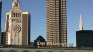 (HD1080i) San Francisco: Pull from Port Entrance Sign video