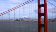 San Francisco Seen through the Goden Gate Bridge video