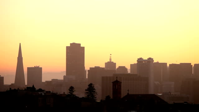 San Francisco Skyline at Sunrise video