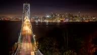 San Francisco's Bay Bridge Time Lapse. video