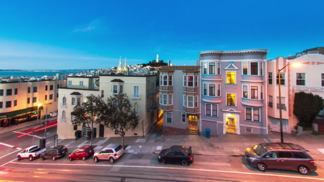 San Francisco's North Beach From Dusk to Night video