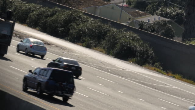 San Jose Highway traffic 4k video