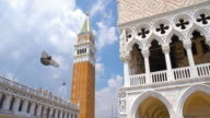 San Marco Campanile bell tower at Piazza San Marco and Palazzo Ducale in Venice, Italy video