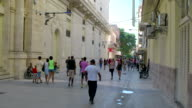 San Rafael Street near National Theater of Cuba, Havana, Cuba video