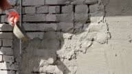 Sand and Cement Rendering on Brick Wall video