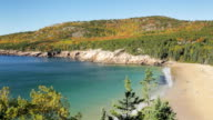 Sand Beach and Gorham Mountain, Acadia, in Autumn video