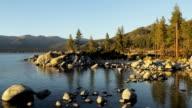 Sand Harbor, Lake Tahoe, at sunset video