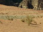 Sand in Wadi Rum desert video