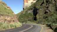Sand stone cliffs of the Golden Gate highlands,South Africa video