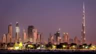 Sand storm in Dubai downtown. United Arab Emirates video