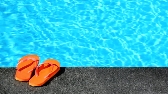 sandals by a pool video