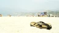 Sandals on a beach video