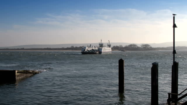 Sandbanks car ferry in Poole video