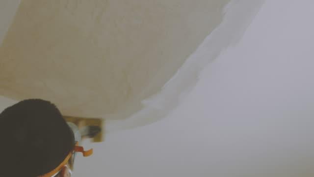 sanding plaster of ceiling video