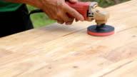 Sandpaper polishing machine. video