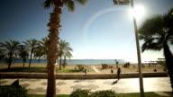 Sandy beaches of Malagueta Malaga video
