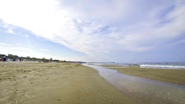 Sandy summer Baltic beach in Swinoujscie, Poland video