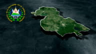 Santa Ana with Coat Of Arms Animation Map video
