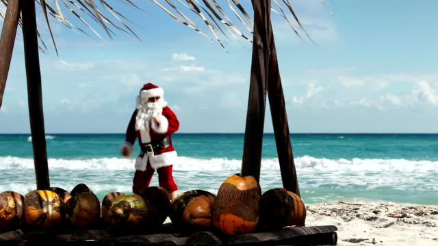 Santa Beach Dancing video