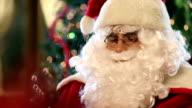 Santa Claus blowing magic dust video