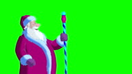 Santa Claus Blowing Snow on Green Screen video