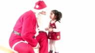 HD : Santa Claus & Child & Candy video