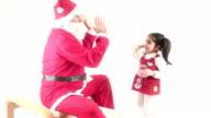 HD : Santa Claus & Child & Playing video