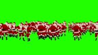 Santa Claus Crowd Dancing, Christmas Party Happy New Year Shape, Green Screen video