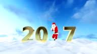 Santa Claus Dancing, holiday greeting card video