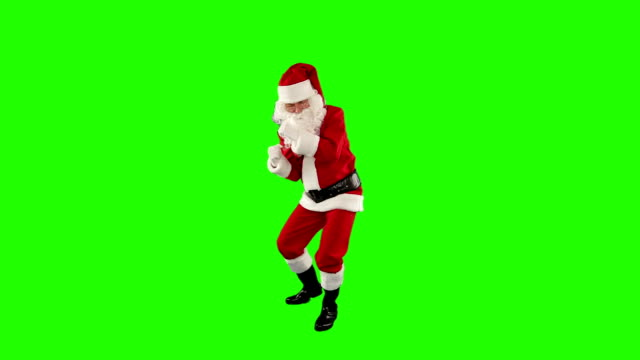 Santa Claus Dancing isolated, Dance 1, Green Screen video