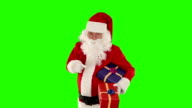 Santa Claus holding presents, Green Screen video