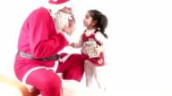 HD : Santa Claus & Little girl & Kisses video