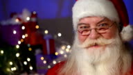 Santa Claus looking at camera video