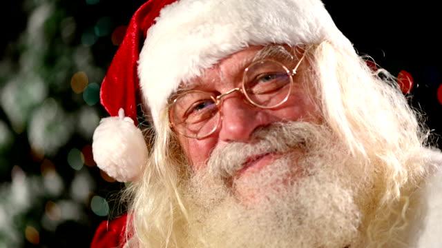 Santa Claus looking at the camera video