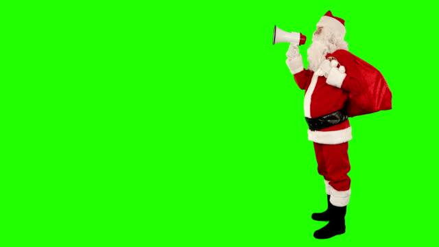 Santa Claus making an announcement, Green Screen video