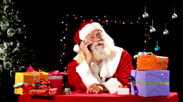 Santa Claus on the phone video