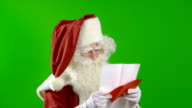 Santa Claus Reading a Strange Wish List video