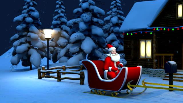 Santa Claus Riding On Sledge video