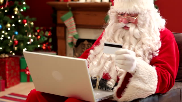 Santa Claus shopping online video