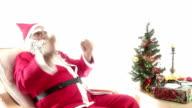HD : Santa Claus   & Sitting  &Singing video