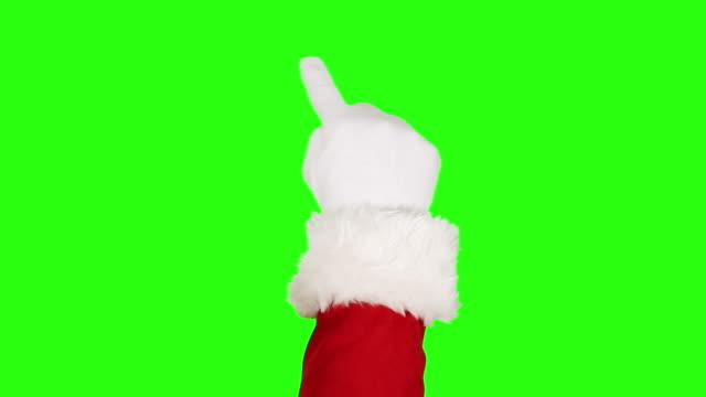 Santa Claus touchscreen gestures. 13 in 1. Green Screen. video