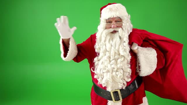 Santa Claus waving video